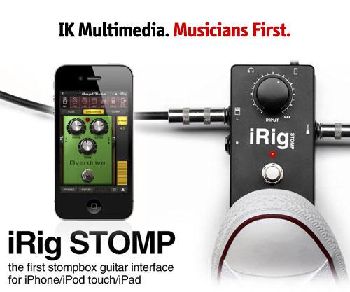 irig stomp: pedal para iphone, ipad y ipod touch de ik multimedia