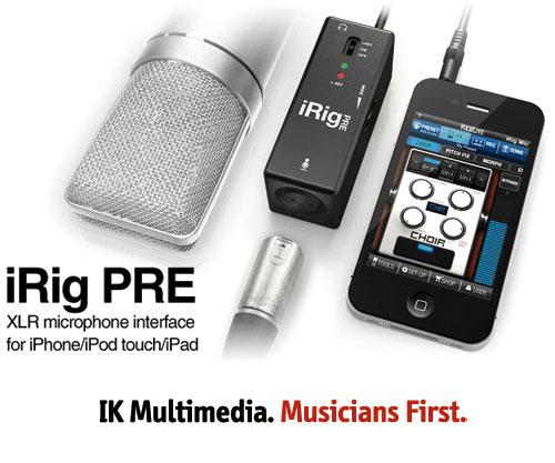 irig pre, interfaz para micrófono profesional para dispositivos ios