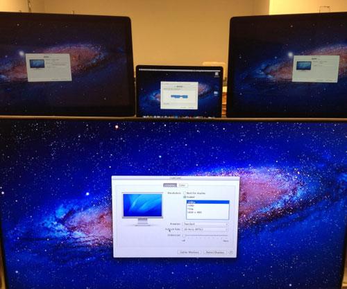 el macbook pro retina soporta hasta 3 pantallas externas de forma simultánea