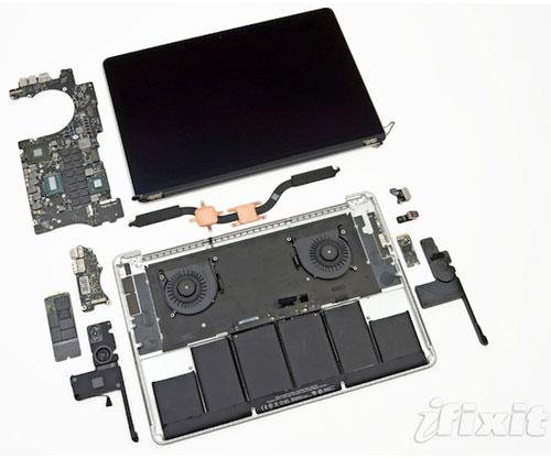 así es el nuevo macbook pro retina por dentro