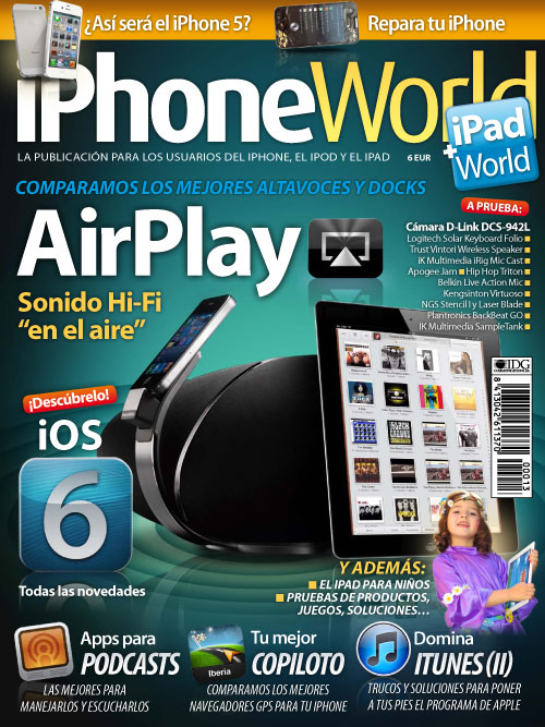 todo sobre ios 6, sonido airplay, app para podcasts y navegadores en el iphoneworld 13