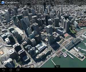 san francisco en 3d con google maps