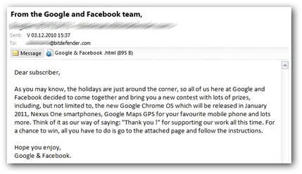 malware en mail google and facebook team