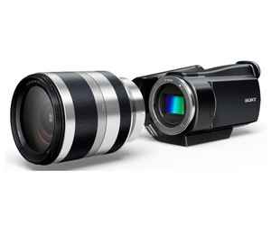 videocámara sony con objetivos intercambiables