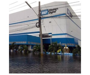 western digital afectada por las inundaciones en tailandia